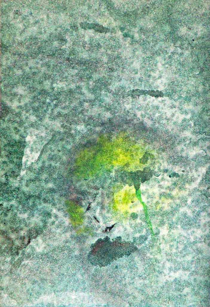 Smutek, 2010, 19 x 13 cm, olej na papíře / v soukromé sbírce / č. 110