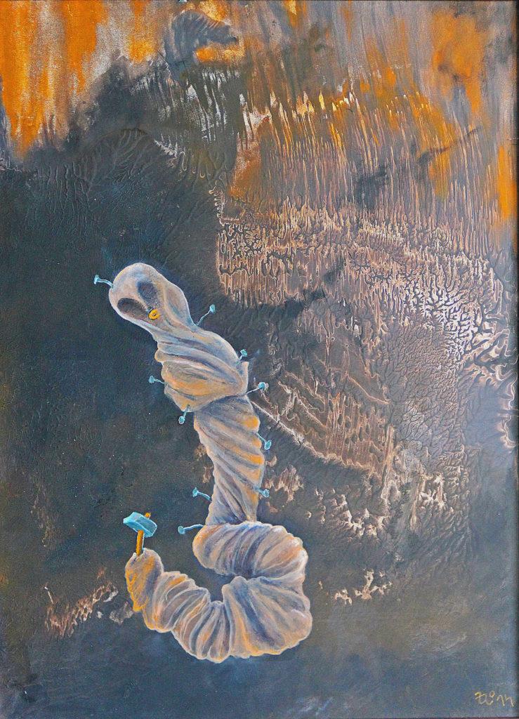 Sebelítost, 2014, 56 x 41 cm, olej na sololitu / k prodeji / č. 118