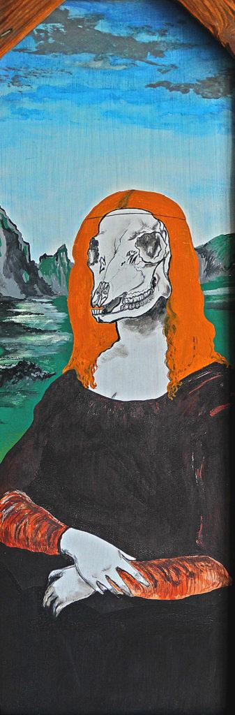 Úsměv Mony Lisy, 1986, 80 x 40 cm, olej na sololitu / k prodeji / č. 120