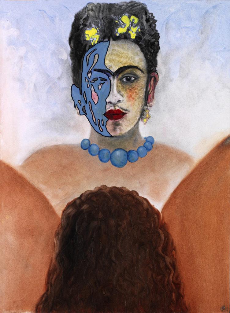 Intimní návštěva u Fridy Kahlo, 2010, 55 x 41 cm, olej na sololitu / v soukromé sbírce / č. 122