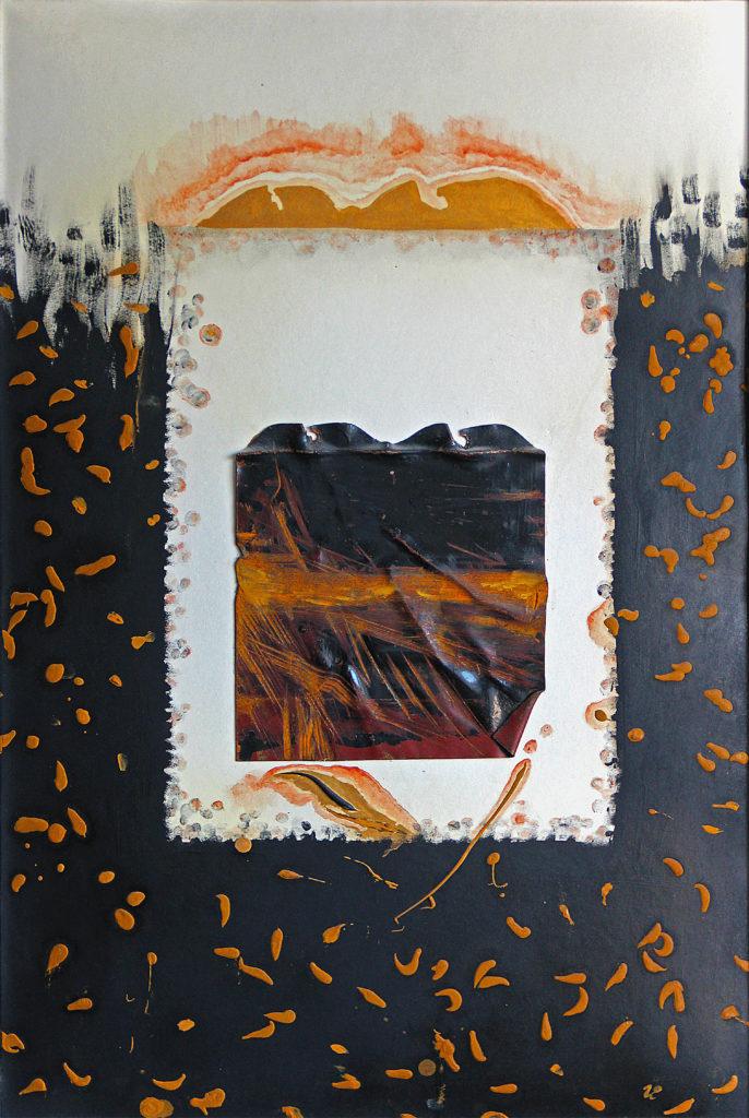 Hrob, 1991, 81 x 56 cm, olej na plátěném bezdřevném papíře / k prodeji / č. 124
