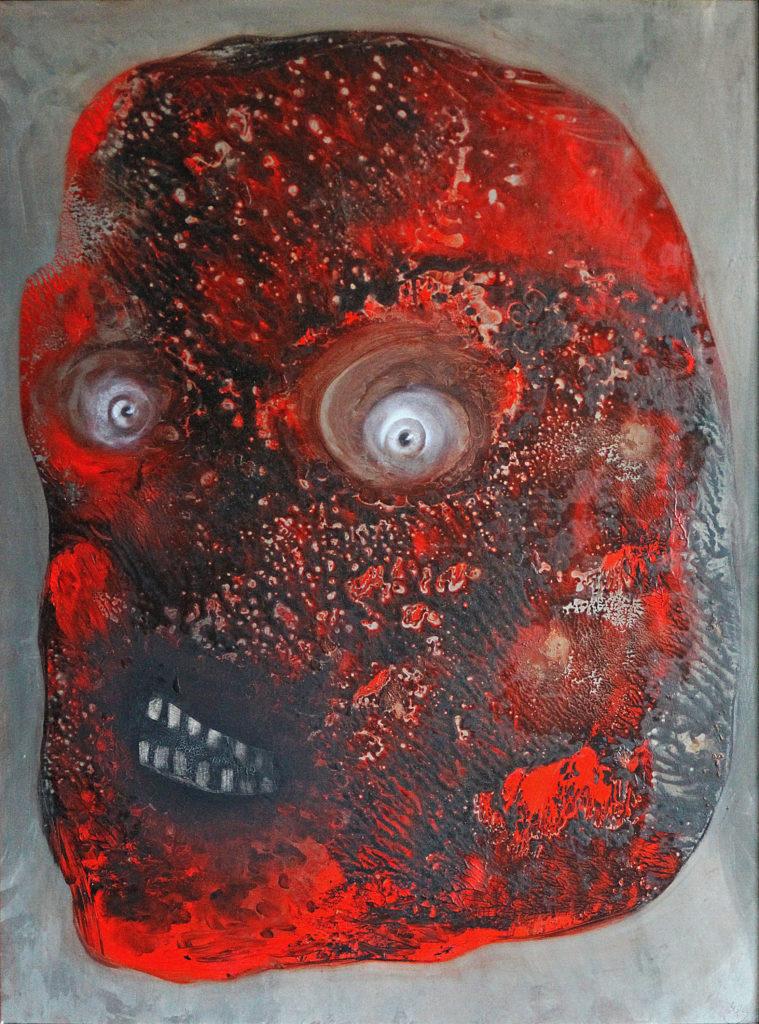 Šílenství, 2009, 69 x 53 cm, olej na kartonu / v soukromé sbírce / č. 128