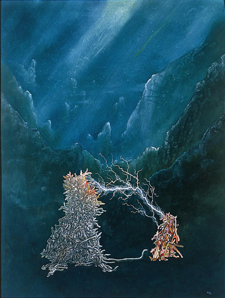 Totální okouzlení, 1991, 93 x 74 cm, olej na papíře / v soukromé sbírce / č. 132