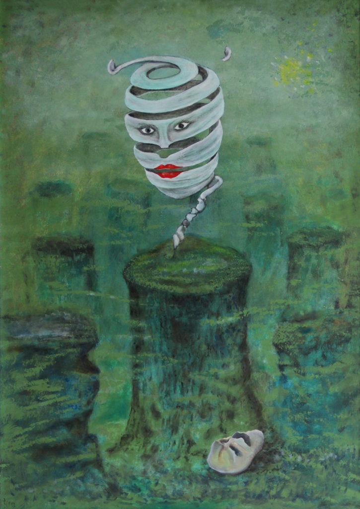 Kočičí hra, 2011, 72 x 53 cm, olej na sololitu / v soukromé sbírce / č. 13