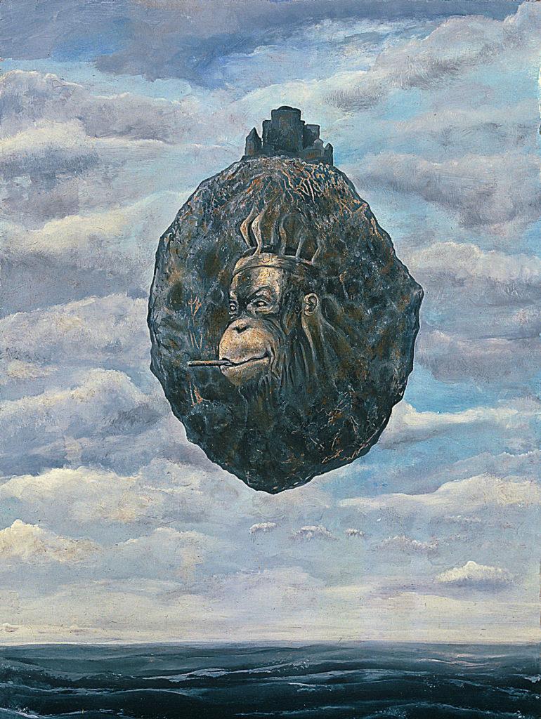 Servillní orangutan, 1991, 40 x 55 cm, olej na sololitu / v soukromé sbírce / č. 148