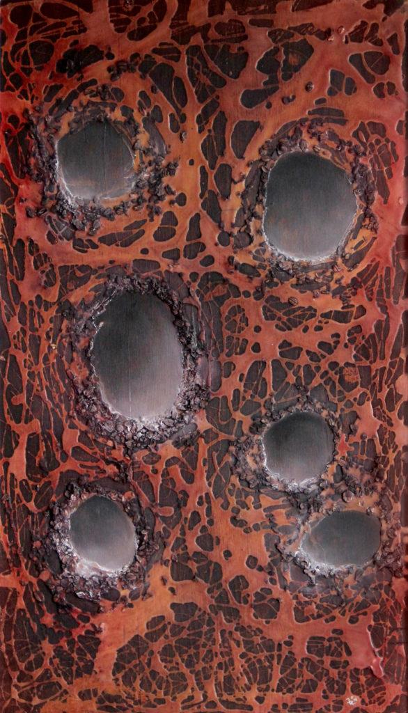 Doupátka, 1992, 65 x 41 cm, olej na překližce / v soukromé sbírce / č. 15