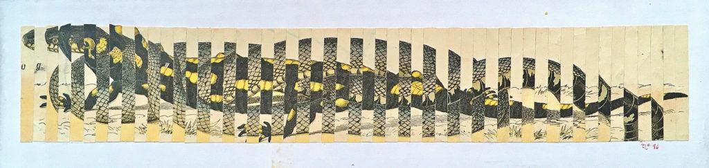 Pocta Kolářovi, 1996, 11 x 32 cm, koláž / v soukromé sbírce / č. 165
