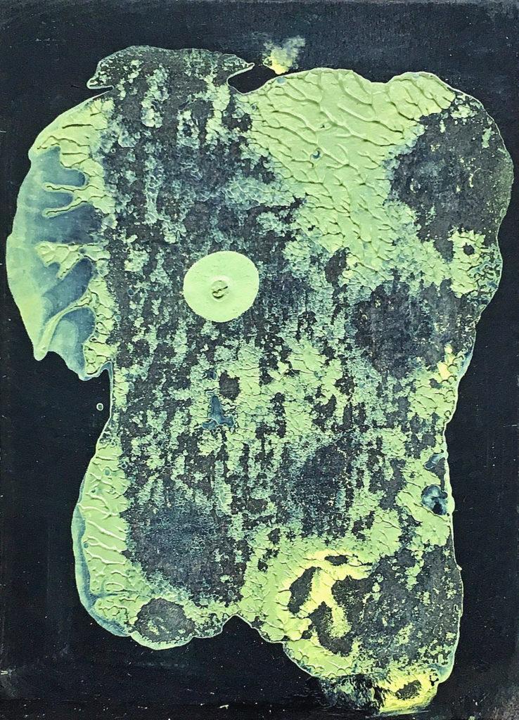 Hlava, 2010, 17 x 13 cm, olej na papíře / k prodeji / č. 168