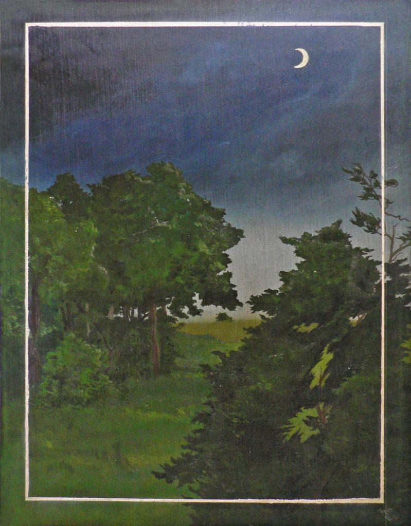 Dítě lesa, 1985, 25 x 32 cm, olej na dřevě / v soukromé sbírce / č. 196