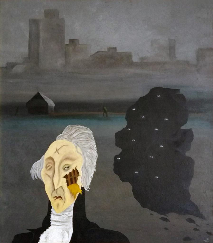 Marquis de Sade, 1985, olej na sololitu / v soukromé sbírce / č. 203