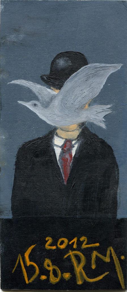 RM, 2012, olej na papíře / v soukromé sbírce / č. 222