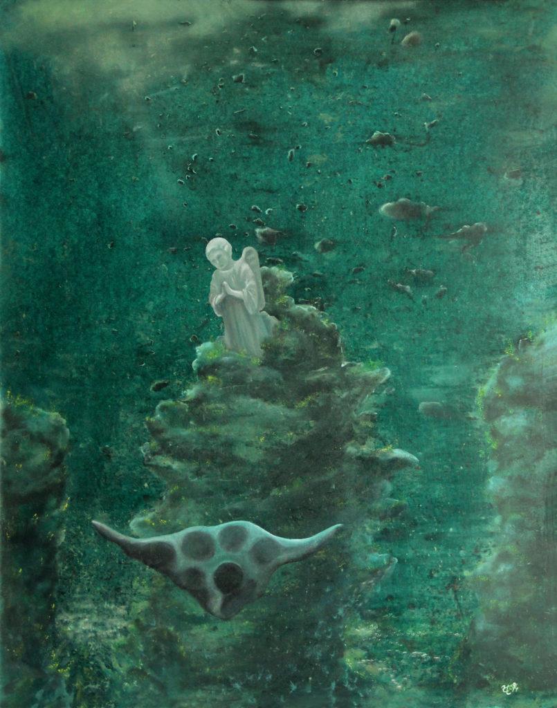 Nebe je moře, 1994, 86 x 69 cm, olej na kartonu / v soukromé sbírce / č. 27