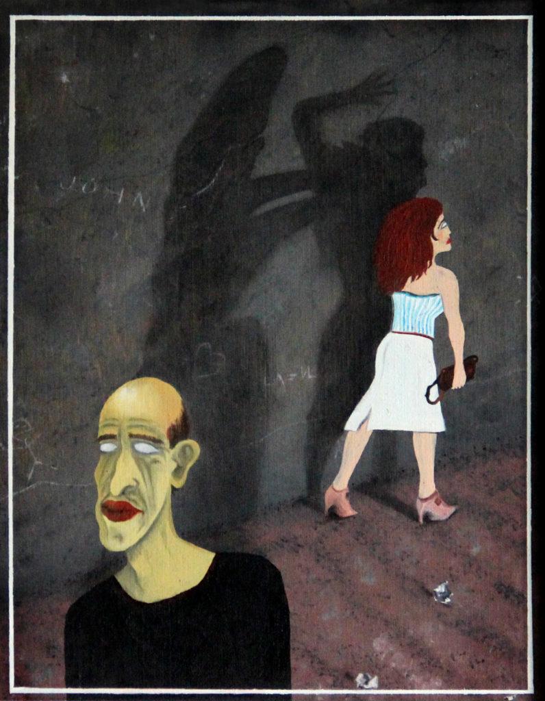 Myšlenka, 1984, 37 x 30 cm, olej na dřevě / v soukromé sbírce / č. 33