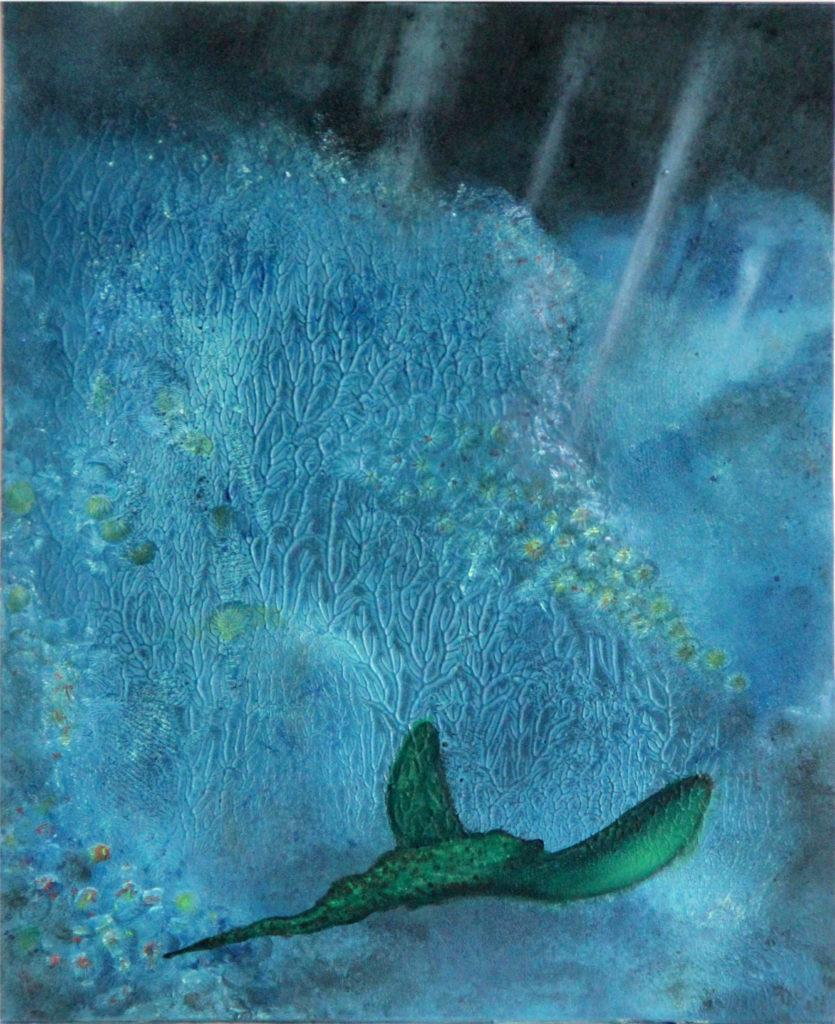 Strážce ticha, 2014, 35 x 36 cm, olej na kartonu / v soukromé sbírce / č. 44