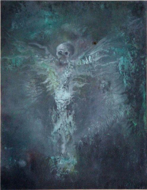 Anděl smrti, 2010, 36 x 28 cm, olej na kartonu / v soukromé sbírce / č. 48