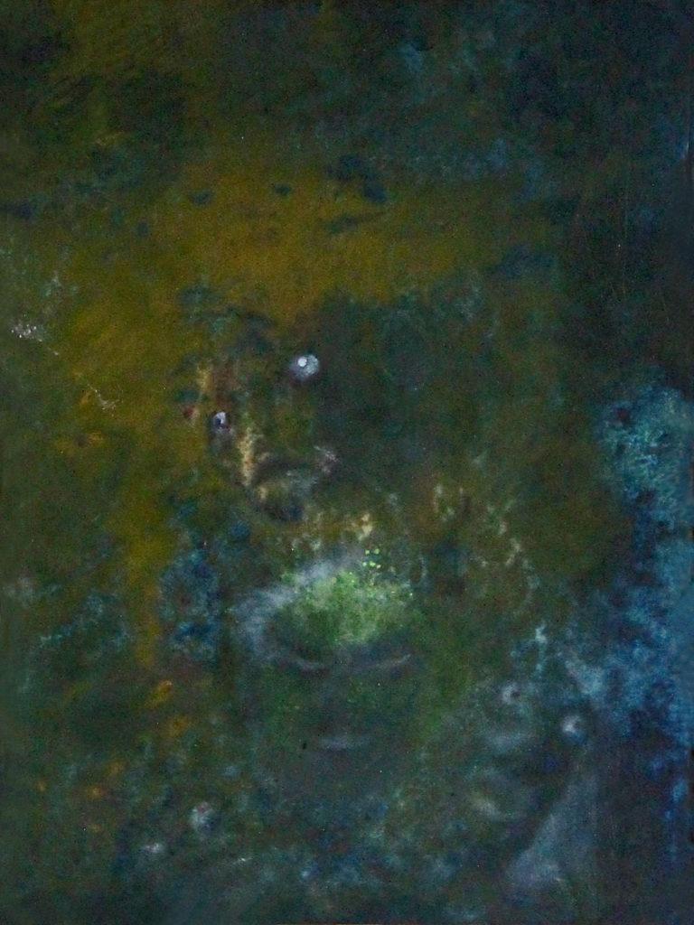 Duše v očistci, 2012, 49 x 35 cm, olej na kartonu / v soukromé sbírce / č. 49