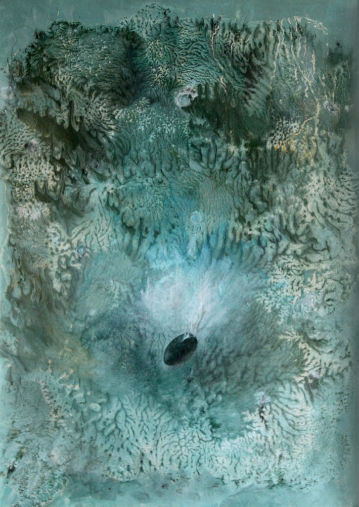 Zárodek, 1996, 73 x 54 cm, olej na kartonu / v soukromé sbírce / č. 4