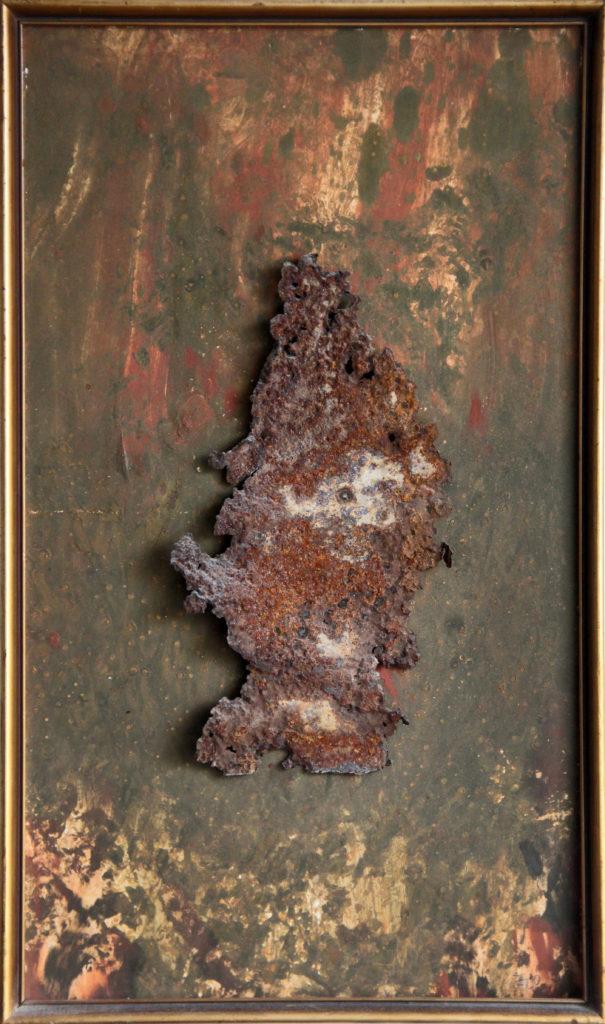 Poutník, 1993, 50 x 30 cm, kombinovaná technika / k prodeji / č. 62