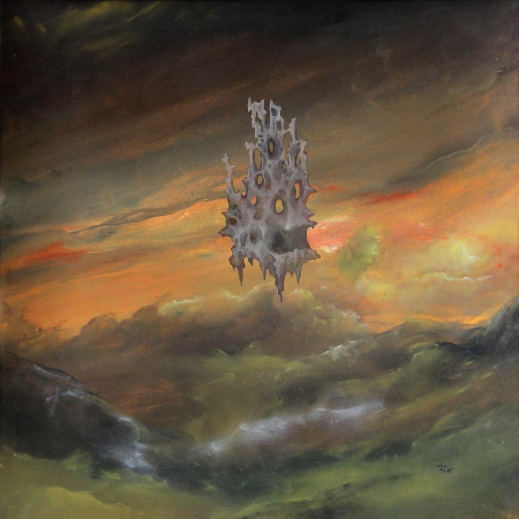 Vzdušný zámek, 2005, 56 x 56 cm, olej na papíře / v soukromé sbírce / č. 65