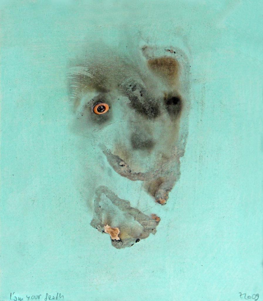 I am your death, 2009, 39 x 36 cm, olej na papíře / v soukromé sbírce / č. 66