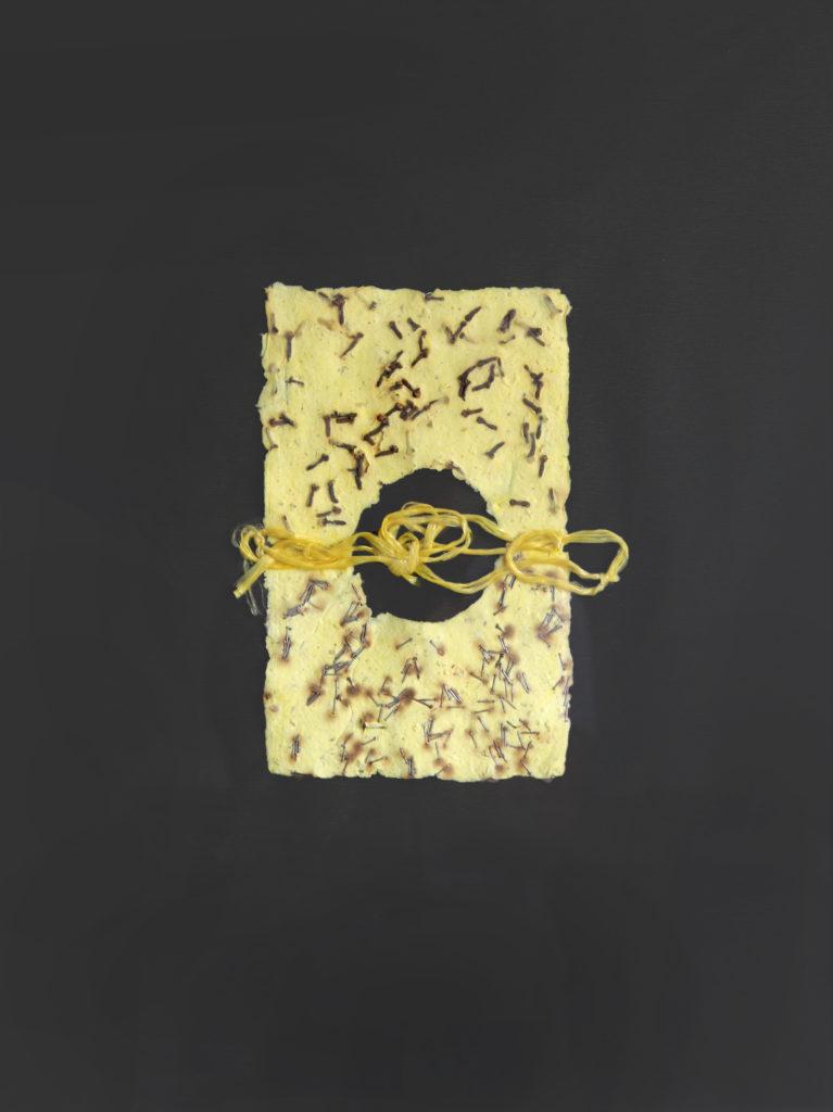 Hřebíčkový papír, 1993, 66 x 50 cm, koláž ze série Papíry / k prodeji / č. 69