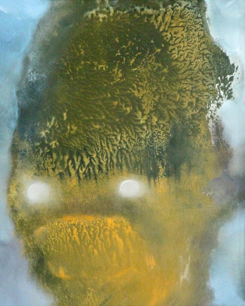 Bubák, 2012, 23 x 19 cm, olej na papíře / v soukromé sbírce / č. 71