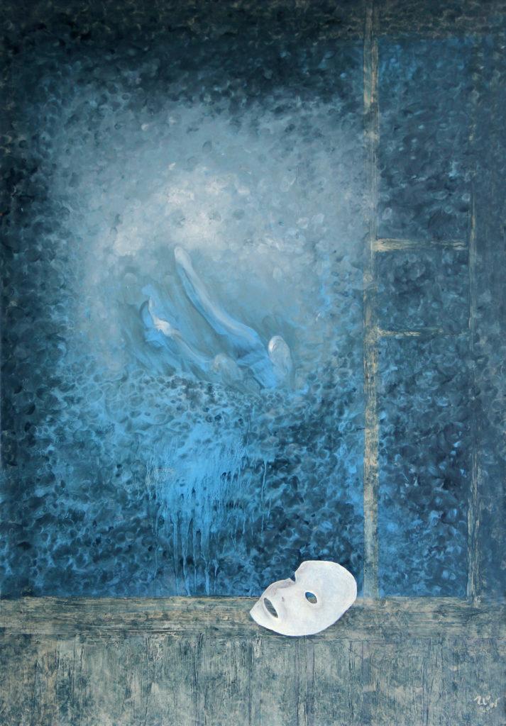 Pohled z okna, 2005, 70 x 50 cm, olej na sololitu / v soukromé sbírce / č. 80