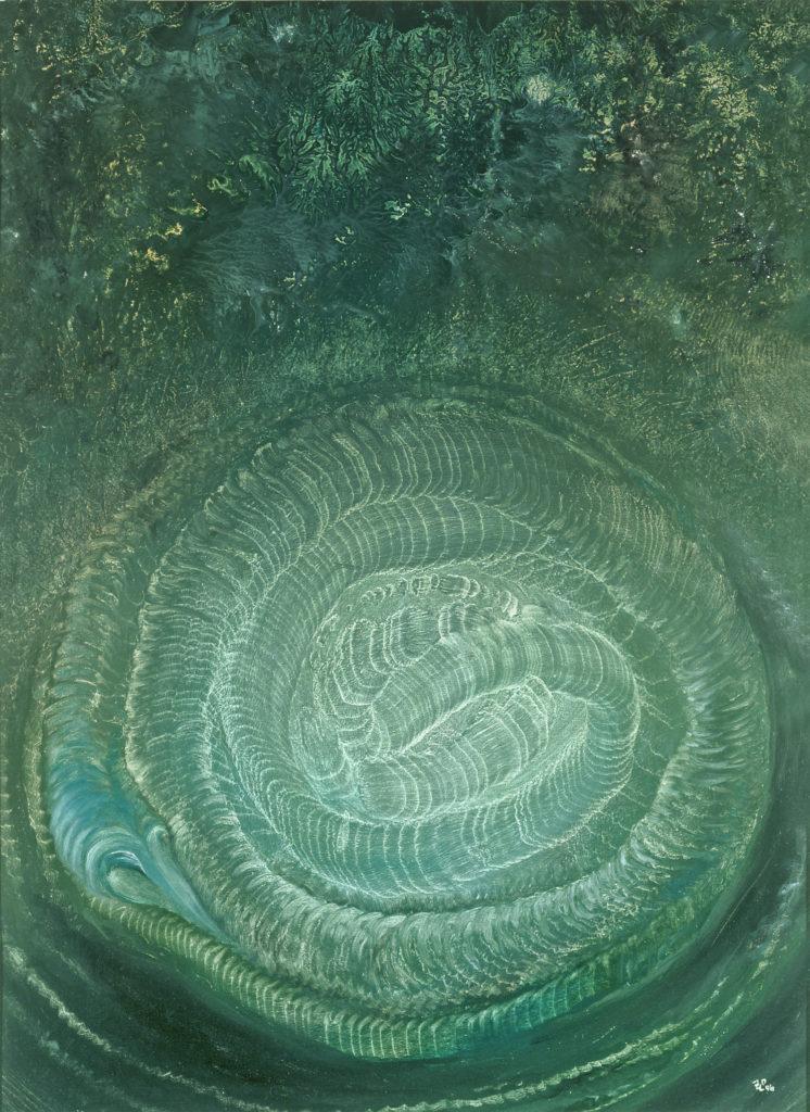 Starý had, 1996, 66 x 50 cm, olej na kartonu / v soukromé sbírce / č. 82