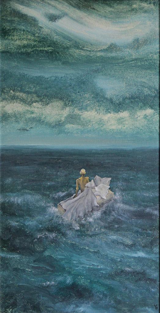 Trosečník, 1999, 85 x 48 cm, olej na sololitu / v soukromé sbírce / č. 88