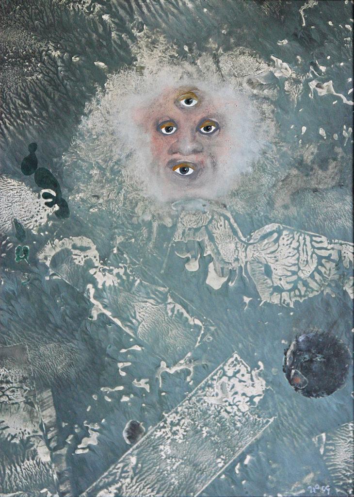 Já tě vidím!, 2009, 58 x 45 cm, olej na kartonu / v soukromé sbírce / č. 97