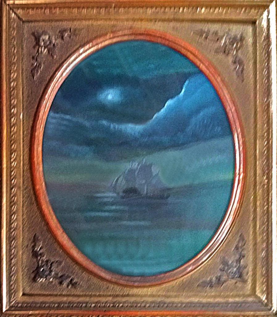 Plachetnice na moři, 2012, 19 x 15 cm, olej na kartonu / v soukromé sbírce / č. 248