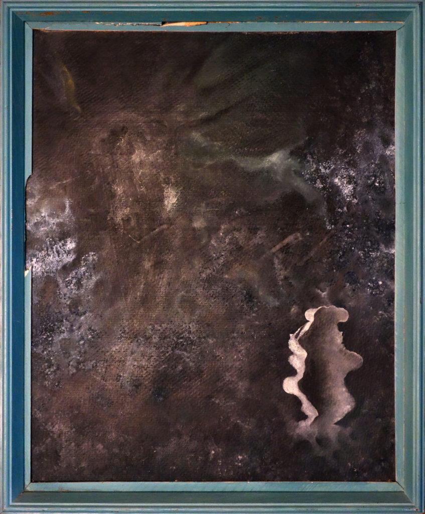 Útěk, 1991, 41 x 51 cm, olej na kartonu / v soukromé sbírce / č. 258