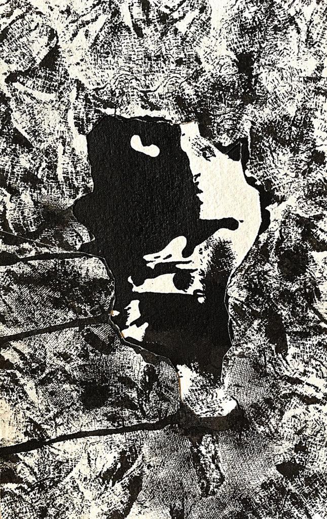 """""""Dvojí tvář"""", 200x, 20 x 13 cm, olej na papíře / k prodeji / č. 272"""