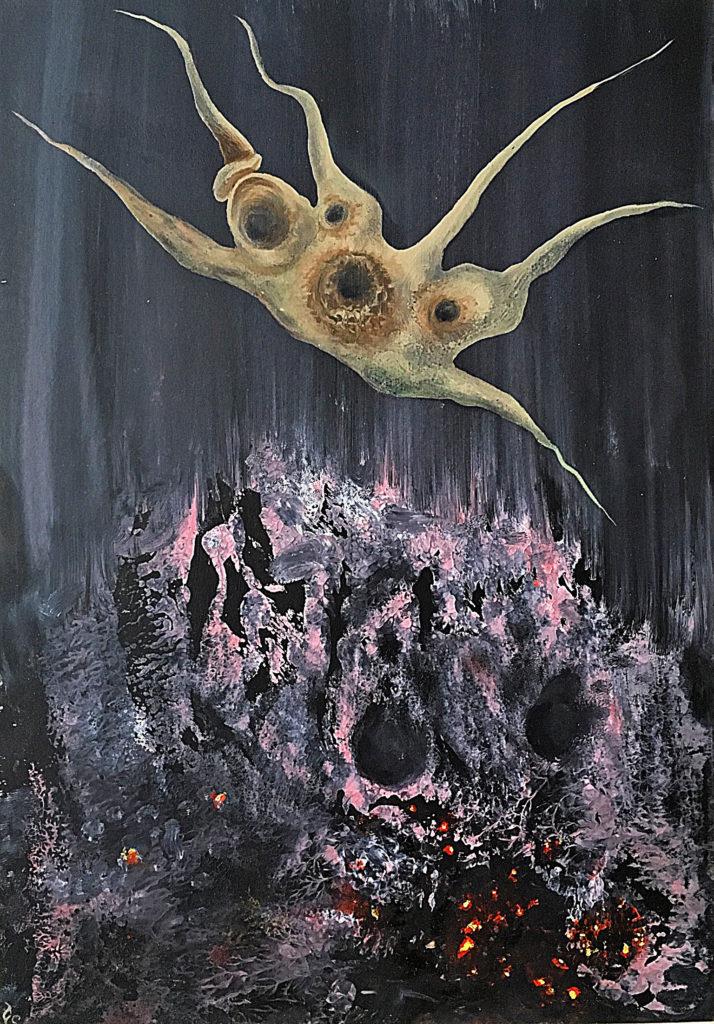 Tanečník (2), 2010, 31 x 21 cm, olej na kartonu / k prodeji / č. 273
