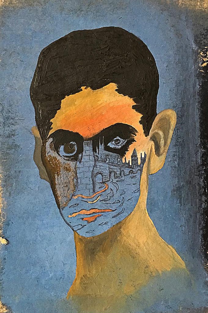 """""""Inkarnace"""", 90. léta, 17 x 12 cm, olej na papíře / k prodeji / č. 277"""